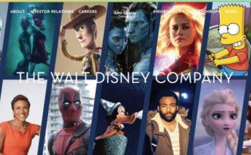 The Walt Disney Company web