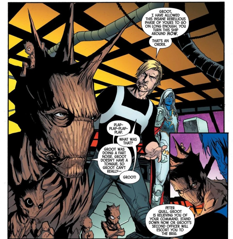 groot guardians of the galaxy new leader