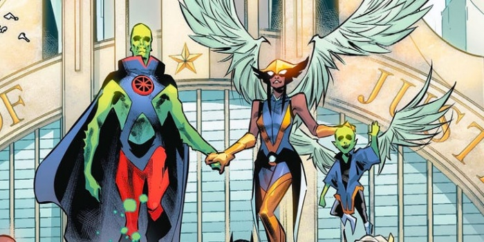 martian manhunter hawkgirl married