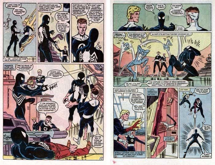 paginas comic origen traje negro