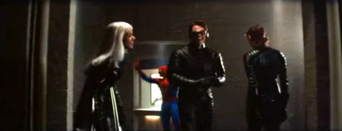 spider man drops in on this classic x men blooper
