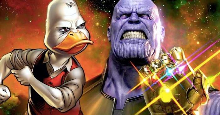 Avengers Infinity War Howard The Duck Cameo Thanos 1