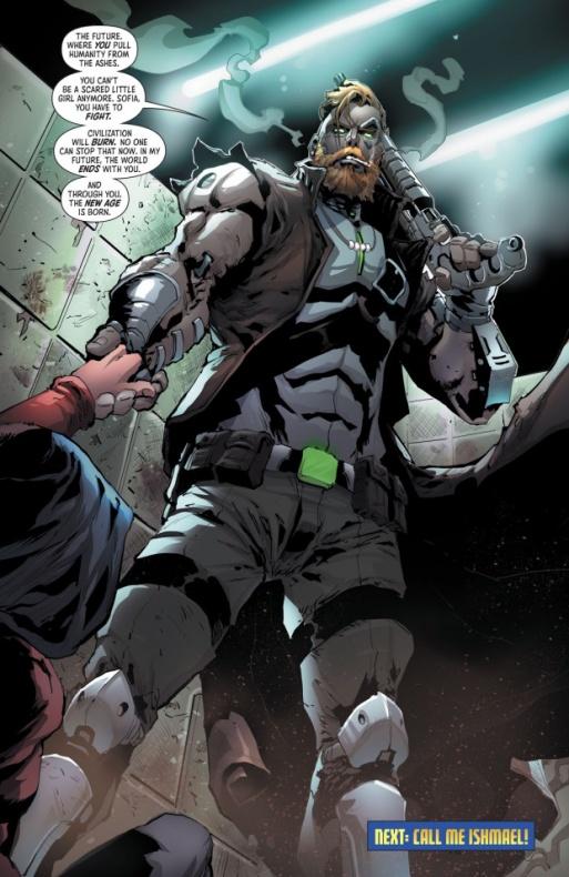 Kaliber (trasunto de Cable de los X-Men de Marvel) debuta en Batman and the Outsiders vol. 3 número 1
