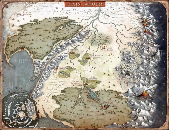 The Last God Mapa