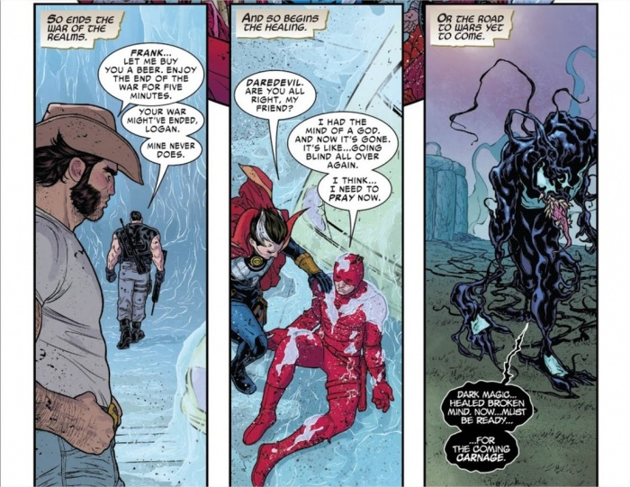 War of the Realms Venom symbiote healed