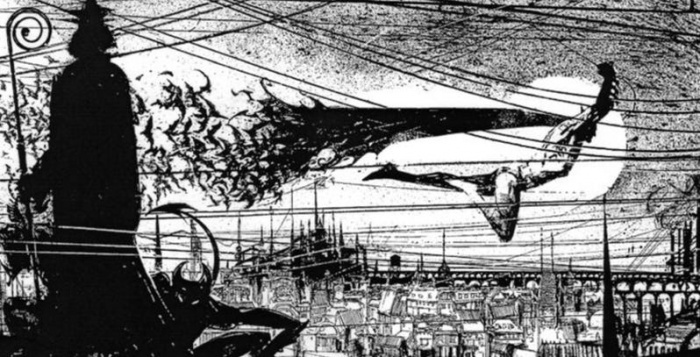 Batman Sienkiewicz unpublished story header