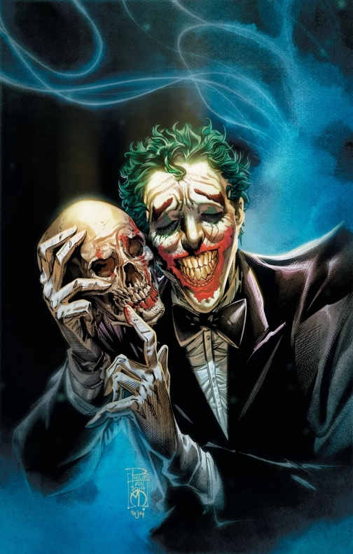 Portada The Joker Year of the Villain 1, por Philip Tan, con guion de John Carpenter y Anthony Burch