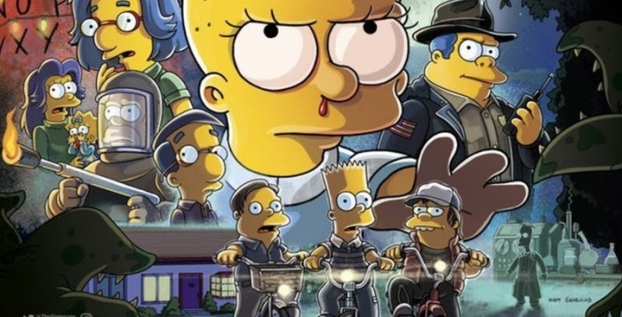 Simpsons Stranger Things