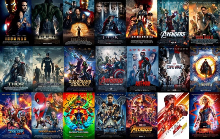 Marvel Studios - películas Fase 1 a Fase 3