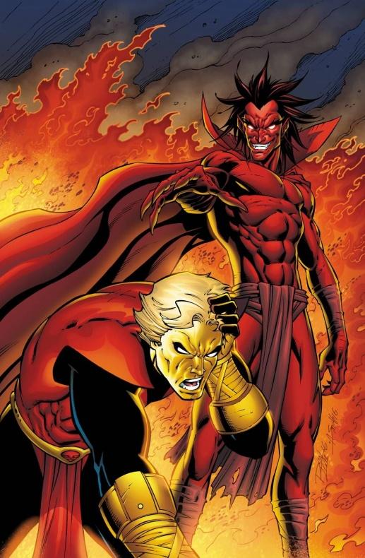 Mephisto y Adam Warlock