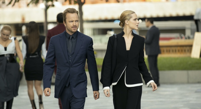 aaron paul evan rachel wood westworld ep 4 still 1