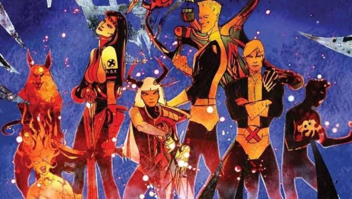 Los Nuevos Mutantes - ilustración de Bill Sienkiewicz para los creditos
