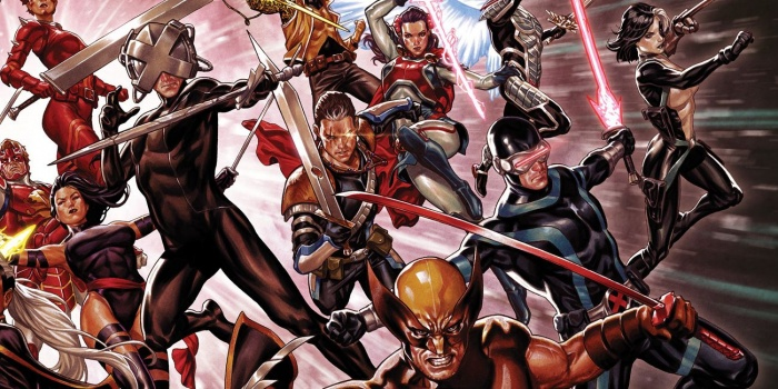 X Men Swords Comic Art