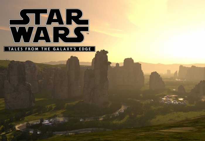 Production Art with Logo Star Wars  Tales from the Galaxys Edge
