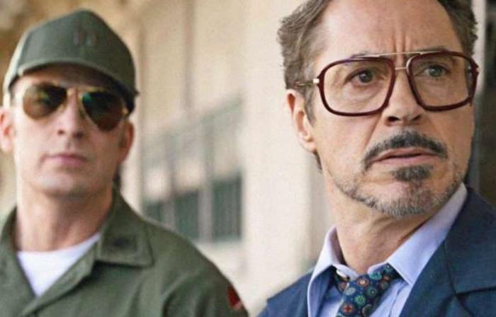 Steve Rogers y Tony Stark en Vengadores Endgame