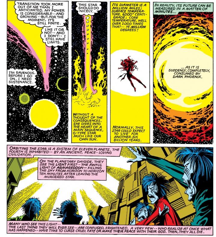 X-Men - Fénix Oscura consume un sistema planetario