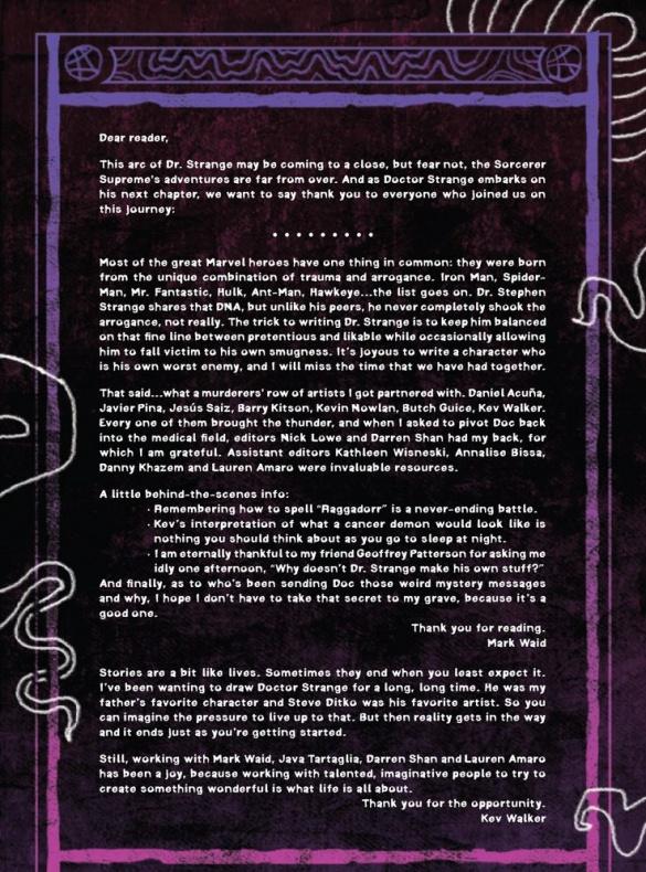 doctor strange issue 6 canceled