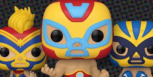 funko marvel pop lucha libre iron man captain marvel wolverine 1242773