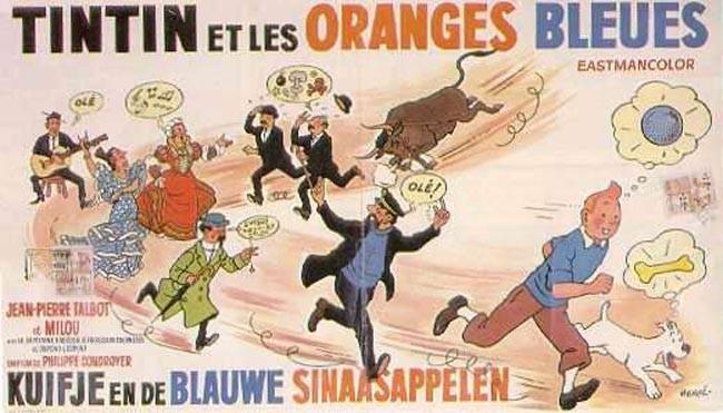 Tintin y las naranjas azules