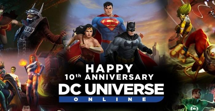 dc universe online 10 year anniversary header