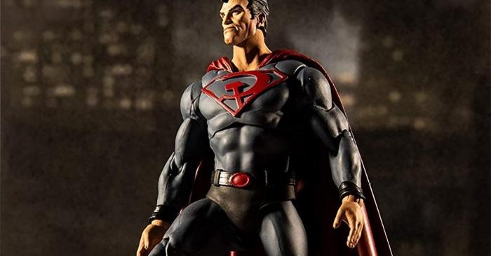 red son superman mcfarlane toys