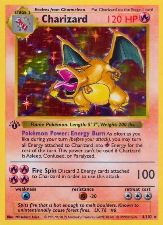 Charizard carta pokémon
