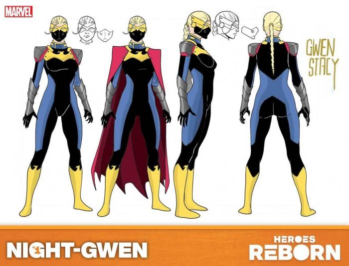 gwen stacy heroes reborn design sheet 2