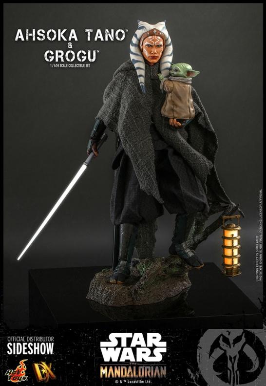 Ahsoka Tano Baby Yoda Grogu Hot Toys Star Wars 003