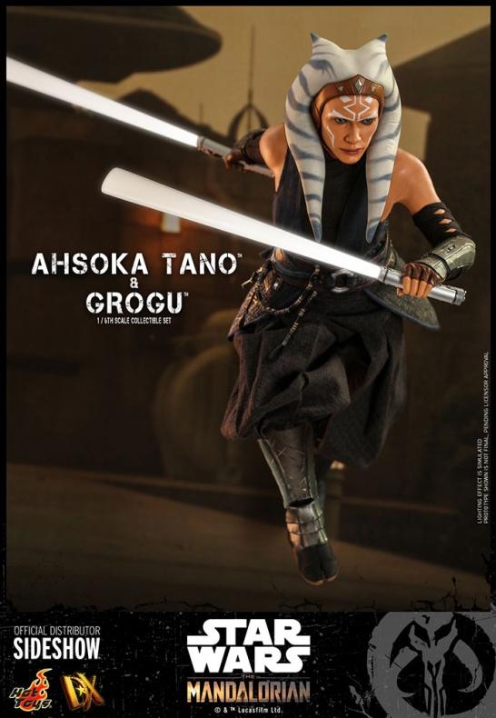 Ahsoka Tano Baby Yoda Grogu Hot Toys Star Wars 006