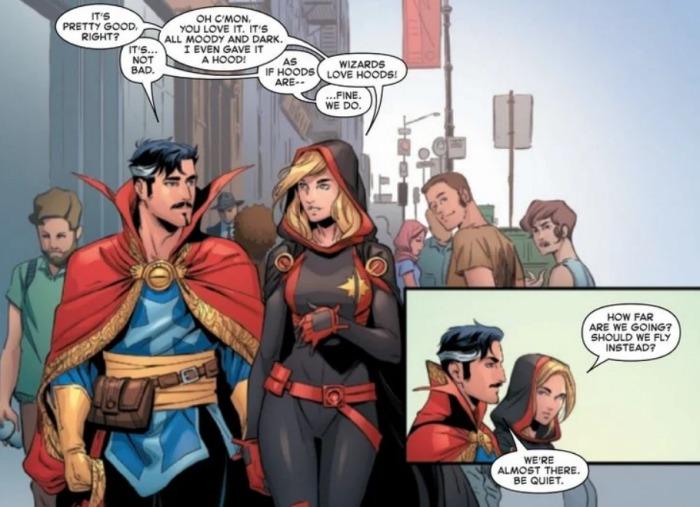 Capitana Marvel - Carol Danvers - marvel Comics - Nuevo uniforme - Doctor Strange -