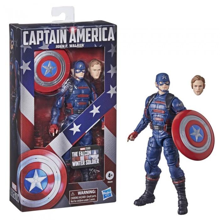 captain america john walker marvel legends series figure from hasbro available for pre order