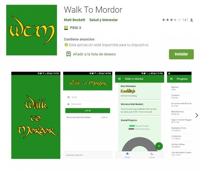 Walk to Mordor - Camina hasta Mordor