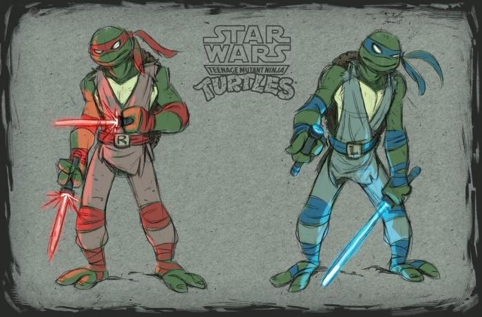 star wars tortugas ninja