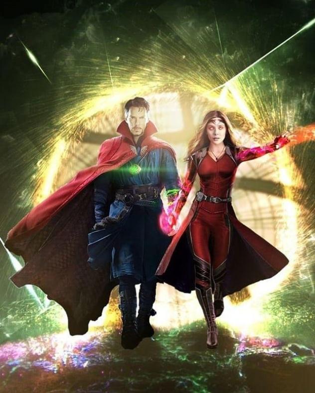 Bruja Escarlata y Doctor Extraño