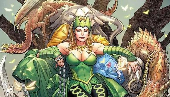 Loki le legó los poderes de Amora la Hechicera cuando su ciudad se convirtió en Nuevo Asgard