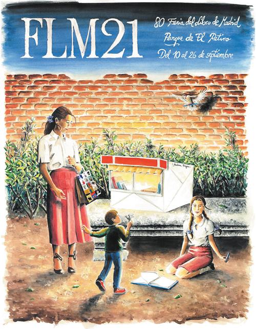 Cartel de la 80º Edición de la Feria del Libro de Madrid 2021