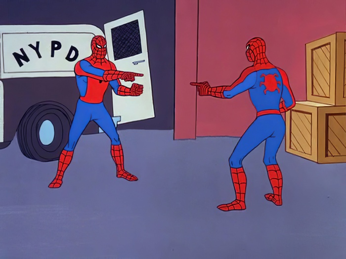 meme de spider-man Marvel