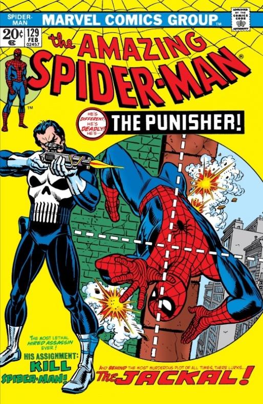 Amazing Spider man 129 el castigador